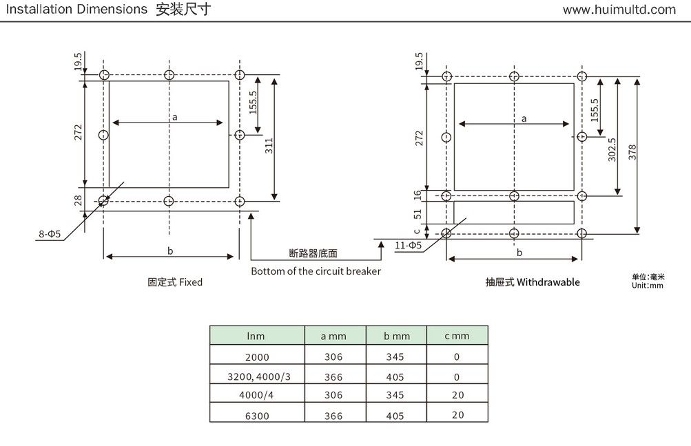 JZW1 Series Appearance and mounting dimensions 5