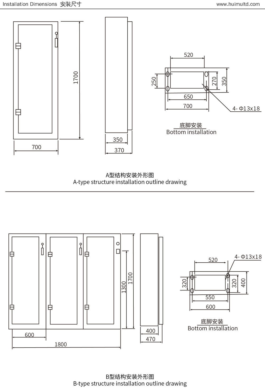 XL-21 Series Appearance and mounting dimensions